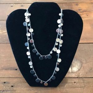 Lia Sophia Long or Double Layered Disk Necklace